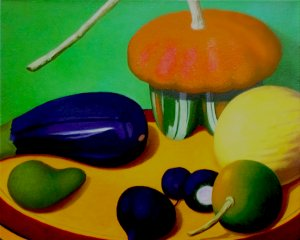 Still Life with vegetable Fruits<br>40x50 cm<br>Oil/Canvas<br>2014